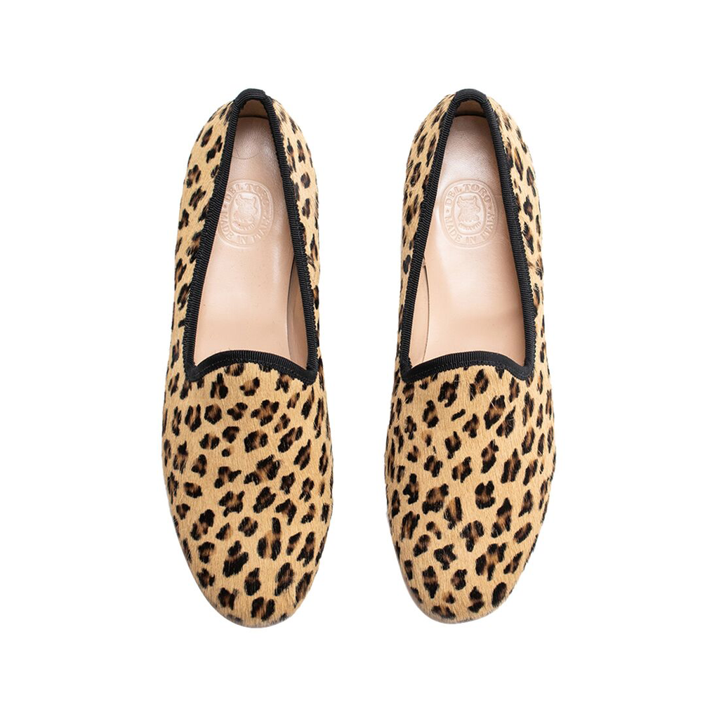 Women's Pony Hair Leopard Slipper II