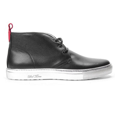 Men's Chukkas - Black Chukka With Silver Sole