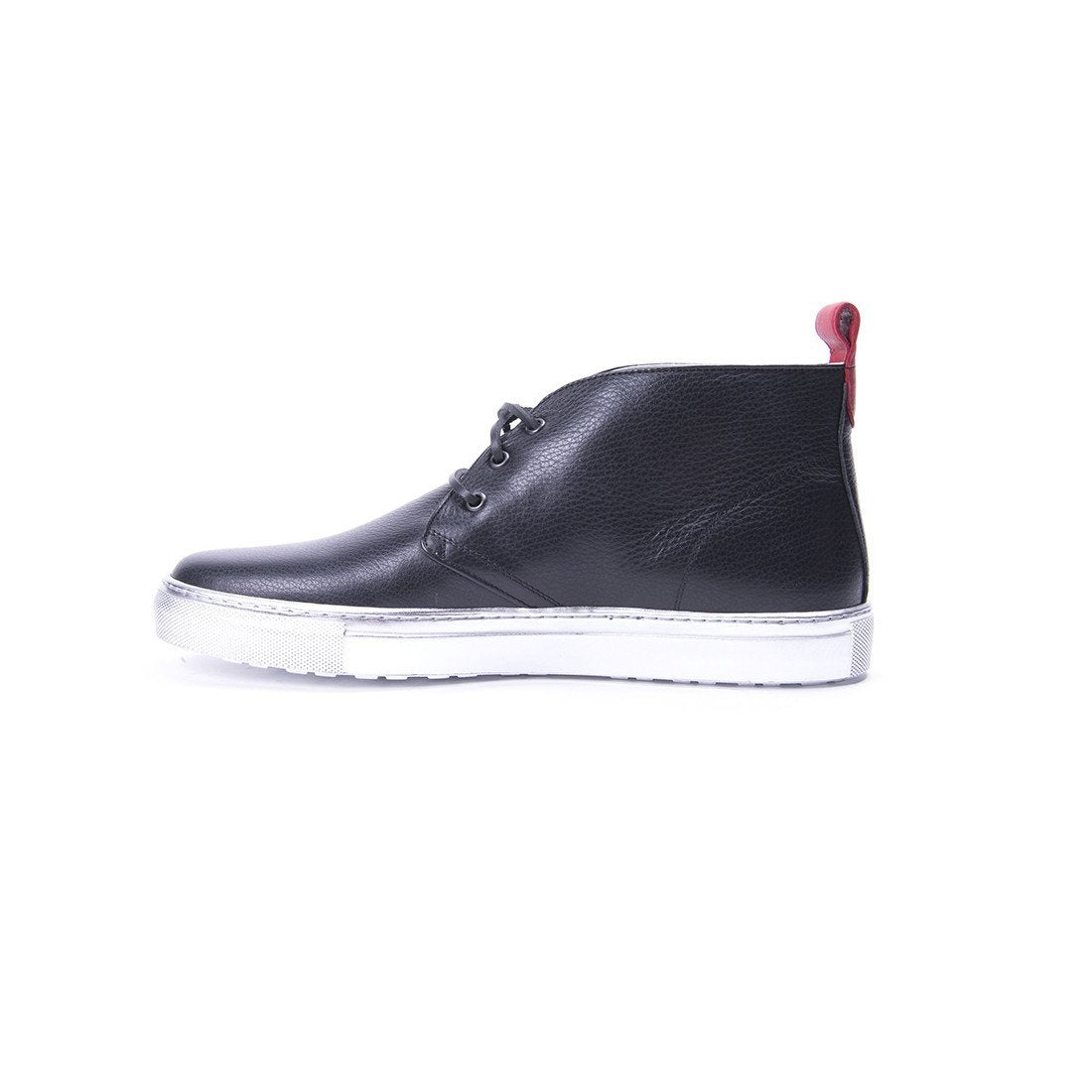 Black Chukka with Silver Sole