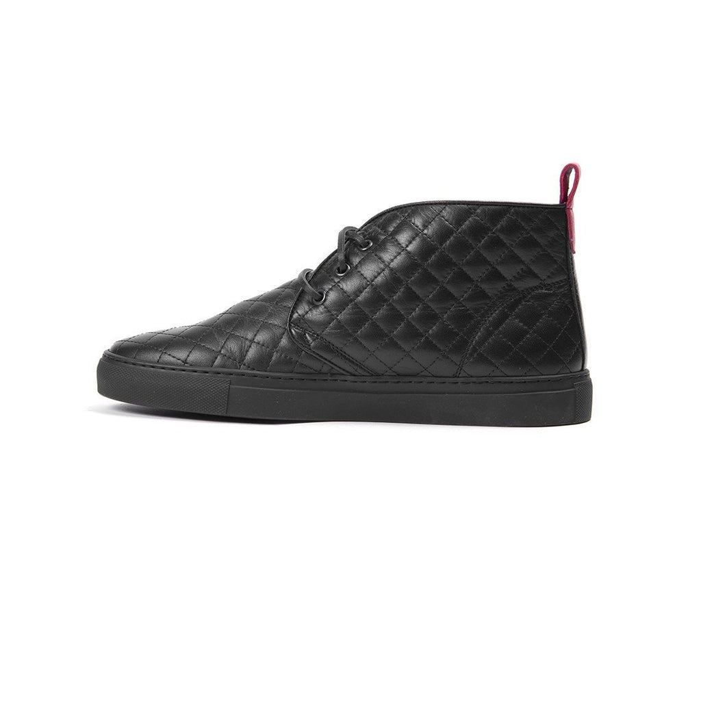 Black Quilted Chukka