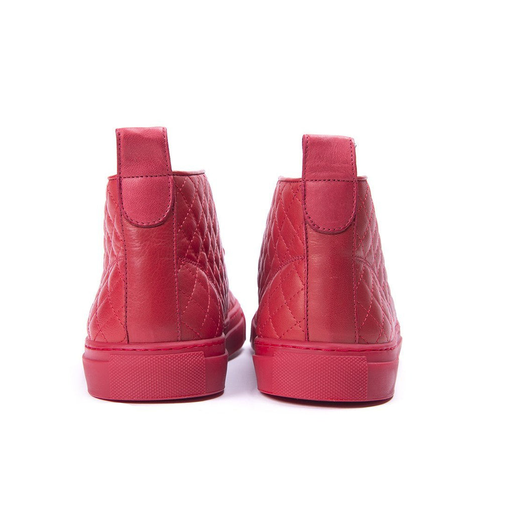 Men's Chukkas - Red Quilted Chukka