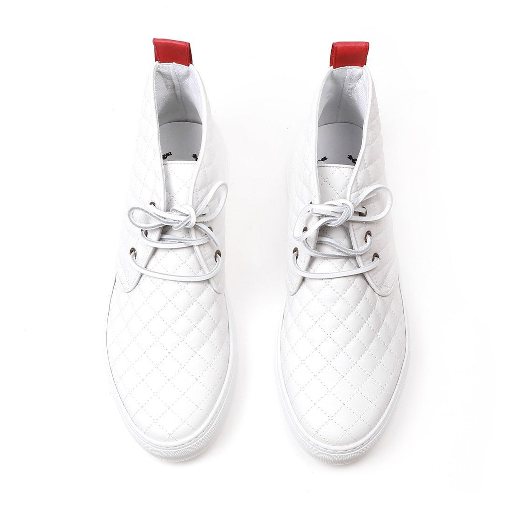 White Quilted Chukka