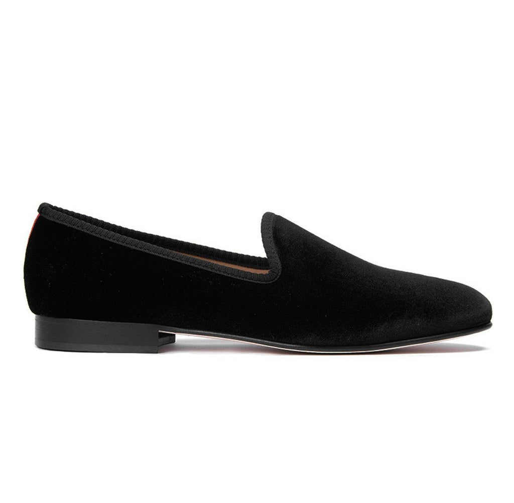 Black Velvet Slipper
