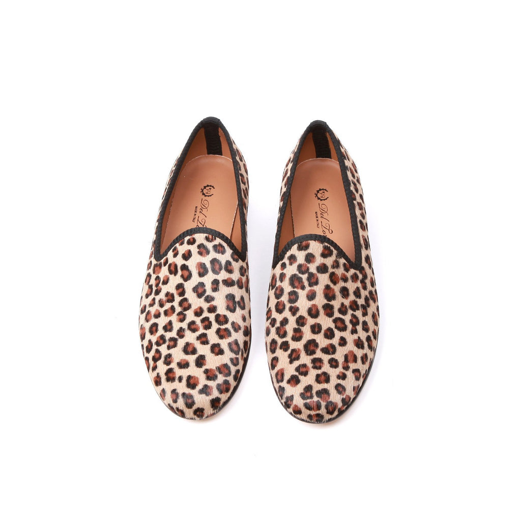 Pony Hair Leopard Slipper