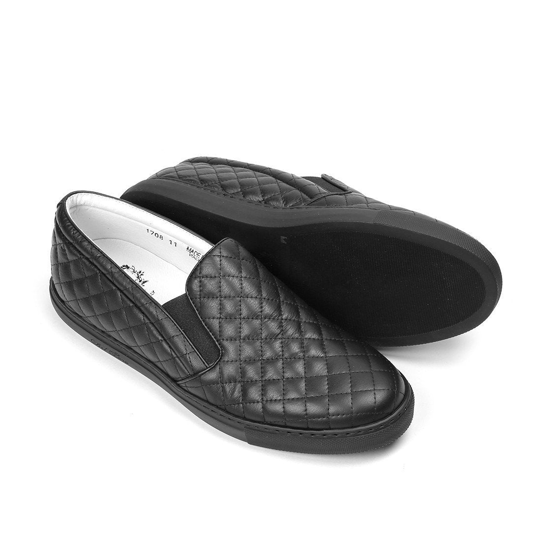 c556fed0e8cf Black Quilted Slip On Sneaker