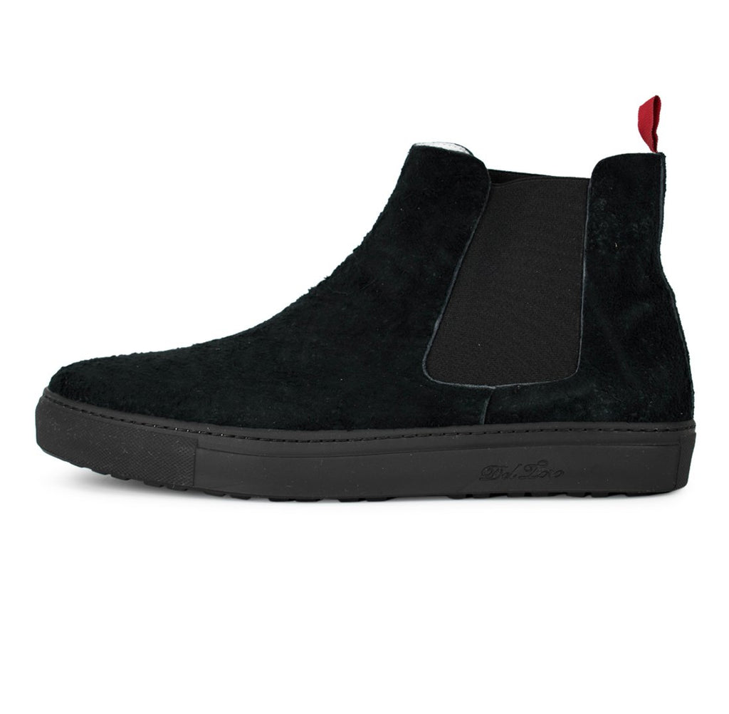 Black Monkey Suede Chelsea Boot Sneaker