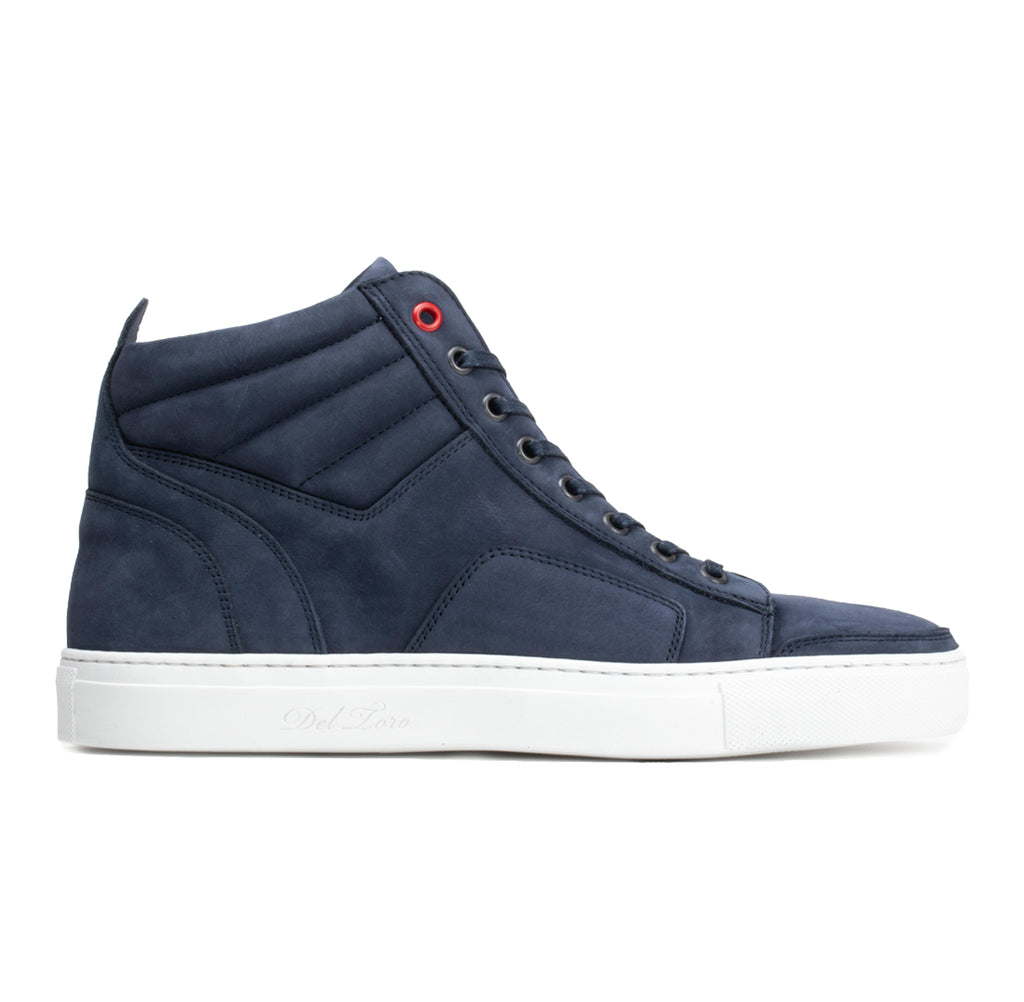 Women's Navy Nabuk Boxing Sneaker