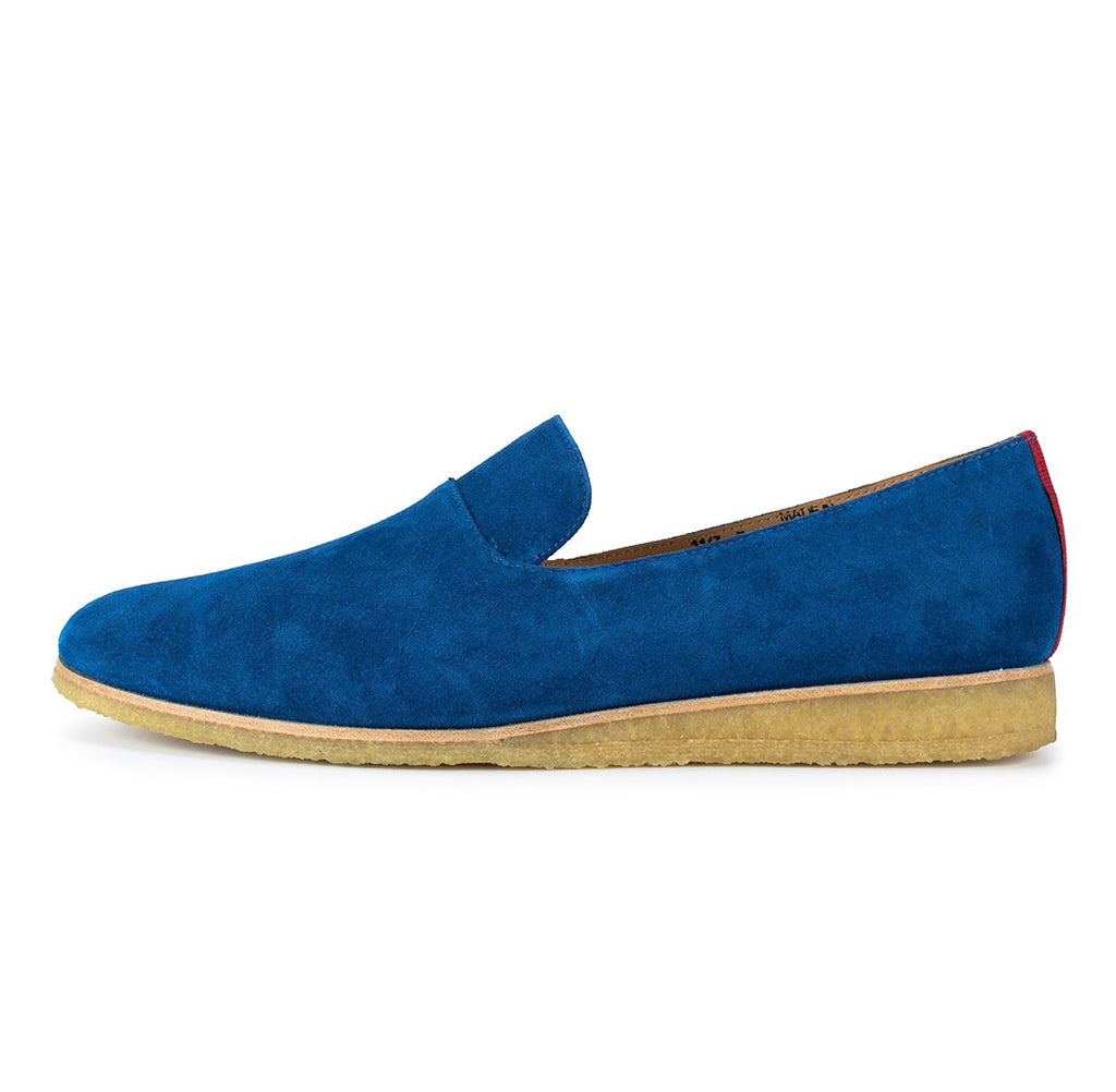 Blue Suede Everyday Loafer with Crepe Sole