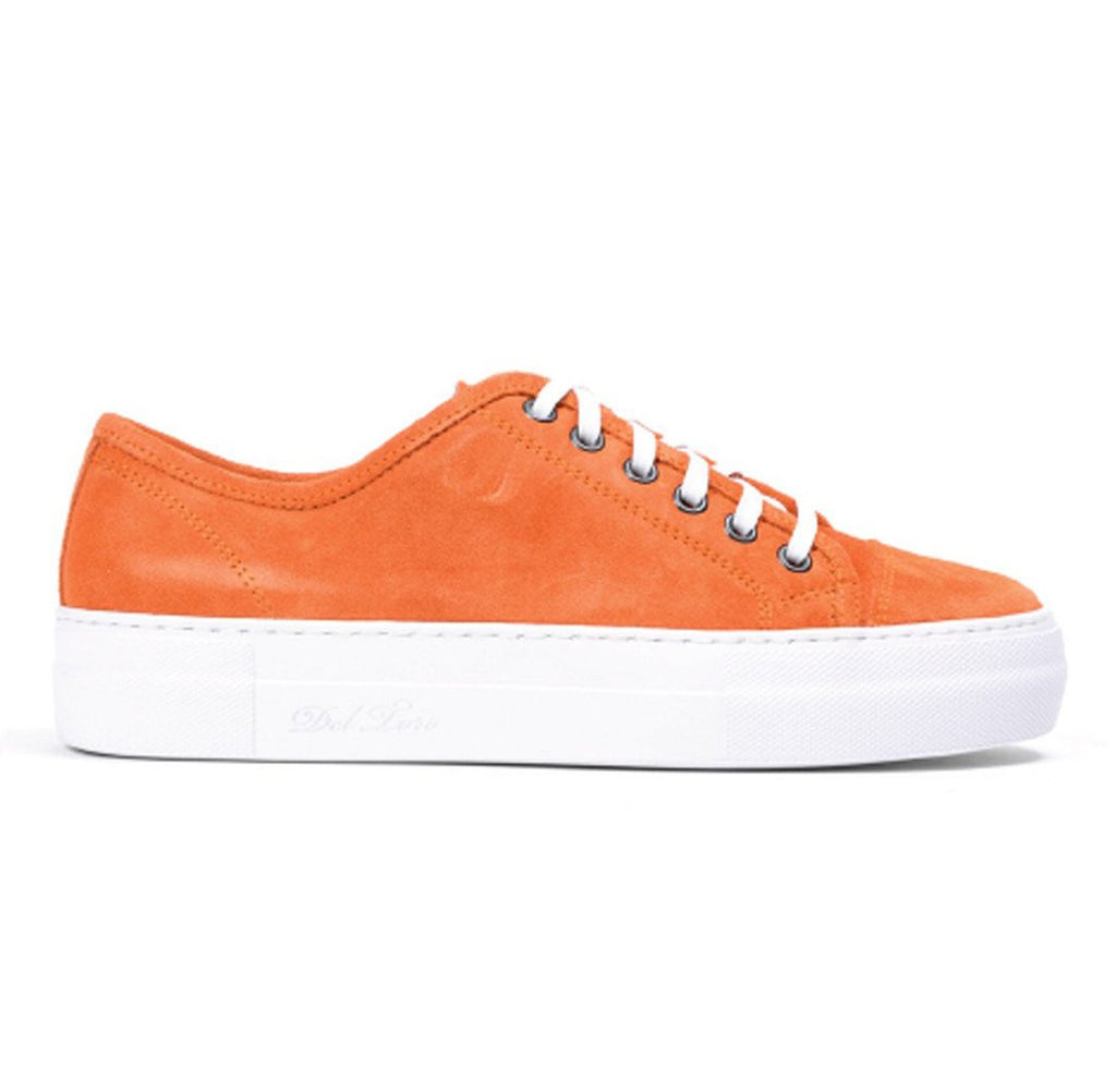 Women's Orange Sardegna Sneaker With Gioia Creeper Sole