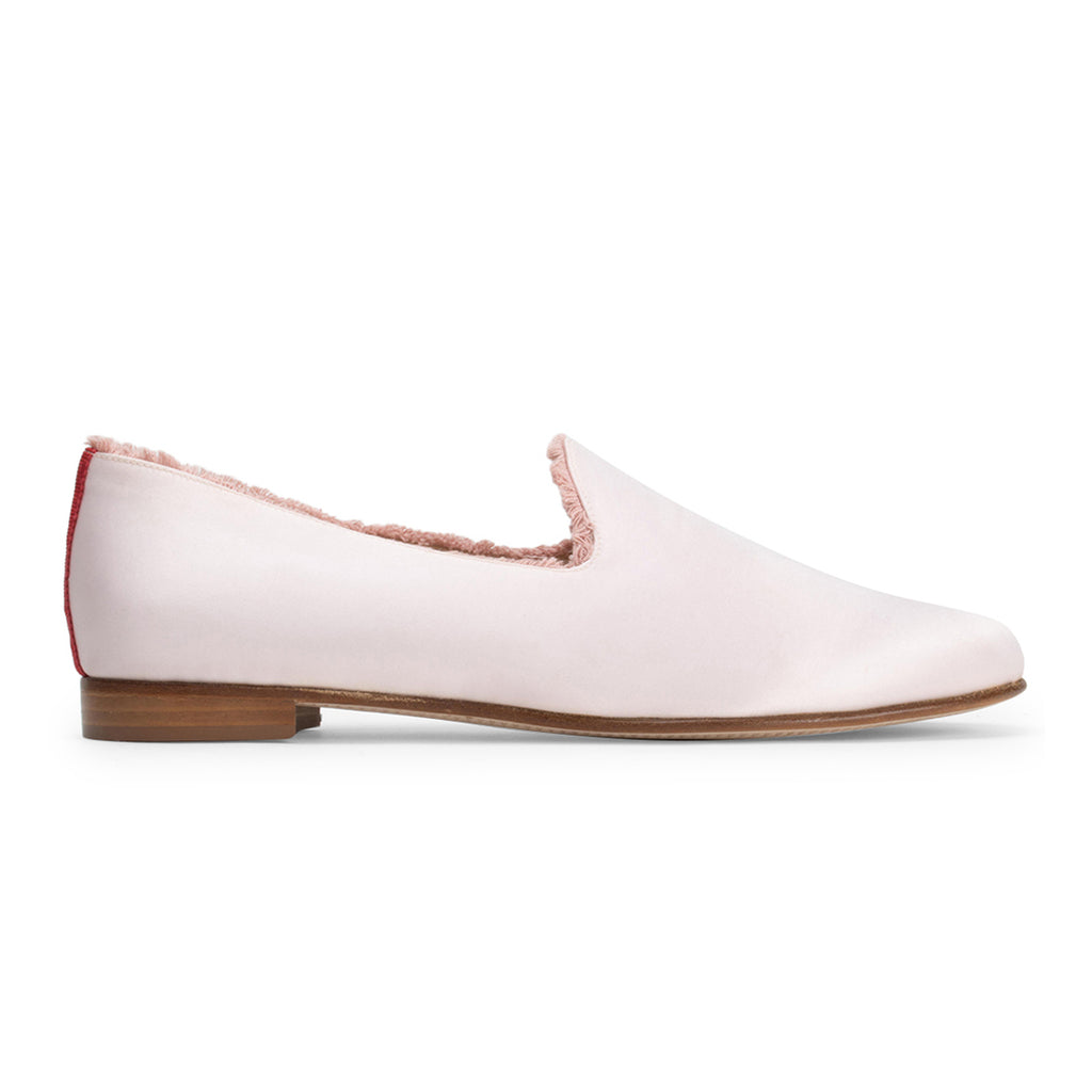 Women's Blush Satin Slipper