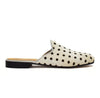 White Pony Hair Polka Dot Mule