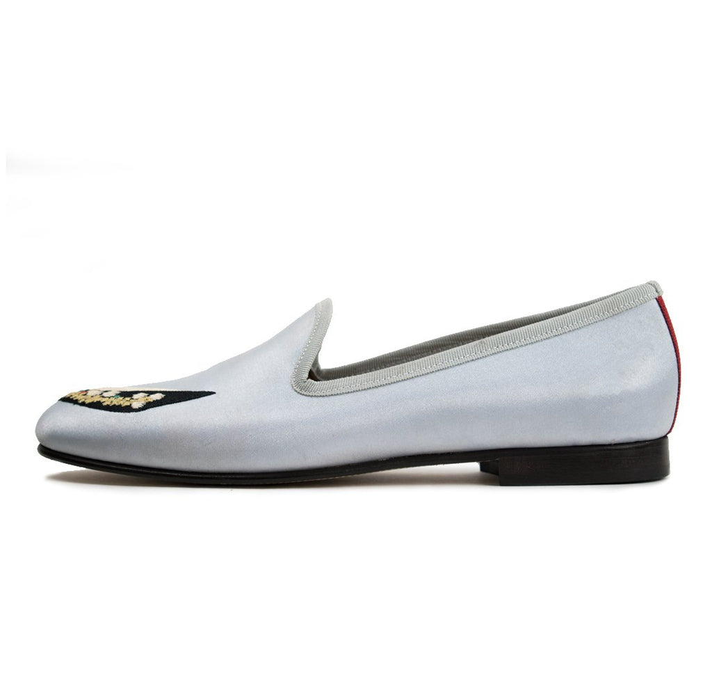 Women's Del Toro for Vogue 125 Silver Satin Slipper