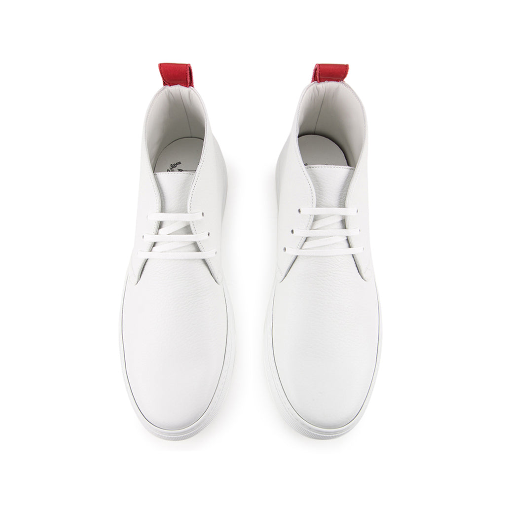 White Bottalato Chukka (No Eyelets)