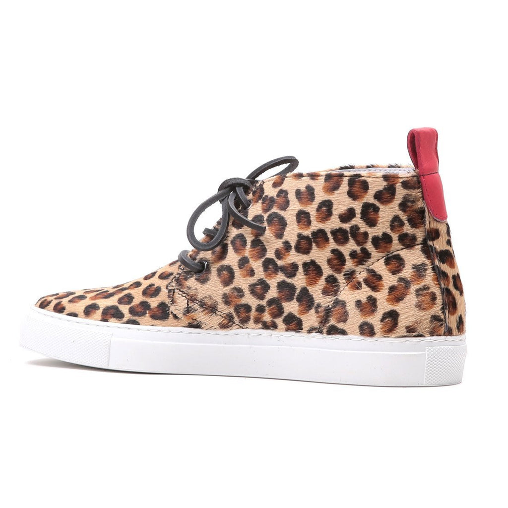 Women's Pony Hair Leopard Chukka