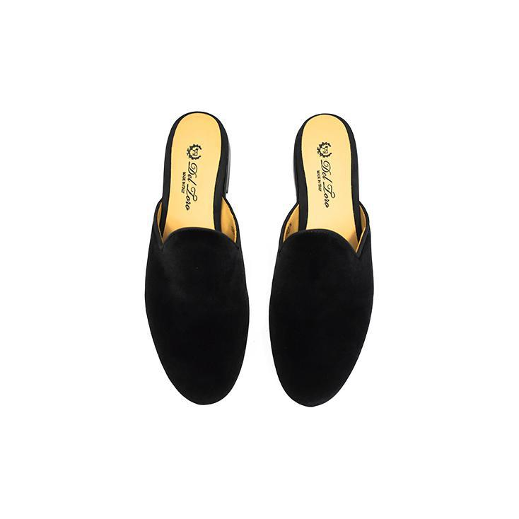 Women's Slippers - Women's Black Velvet Mule