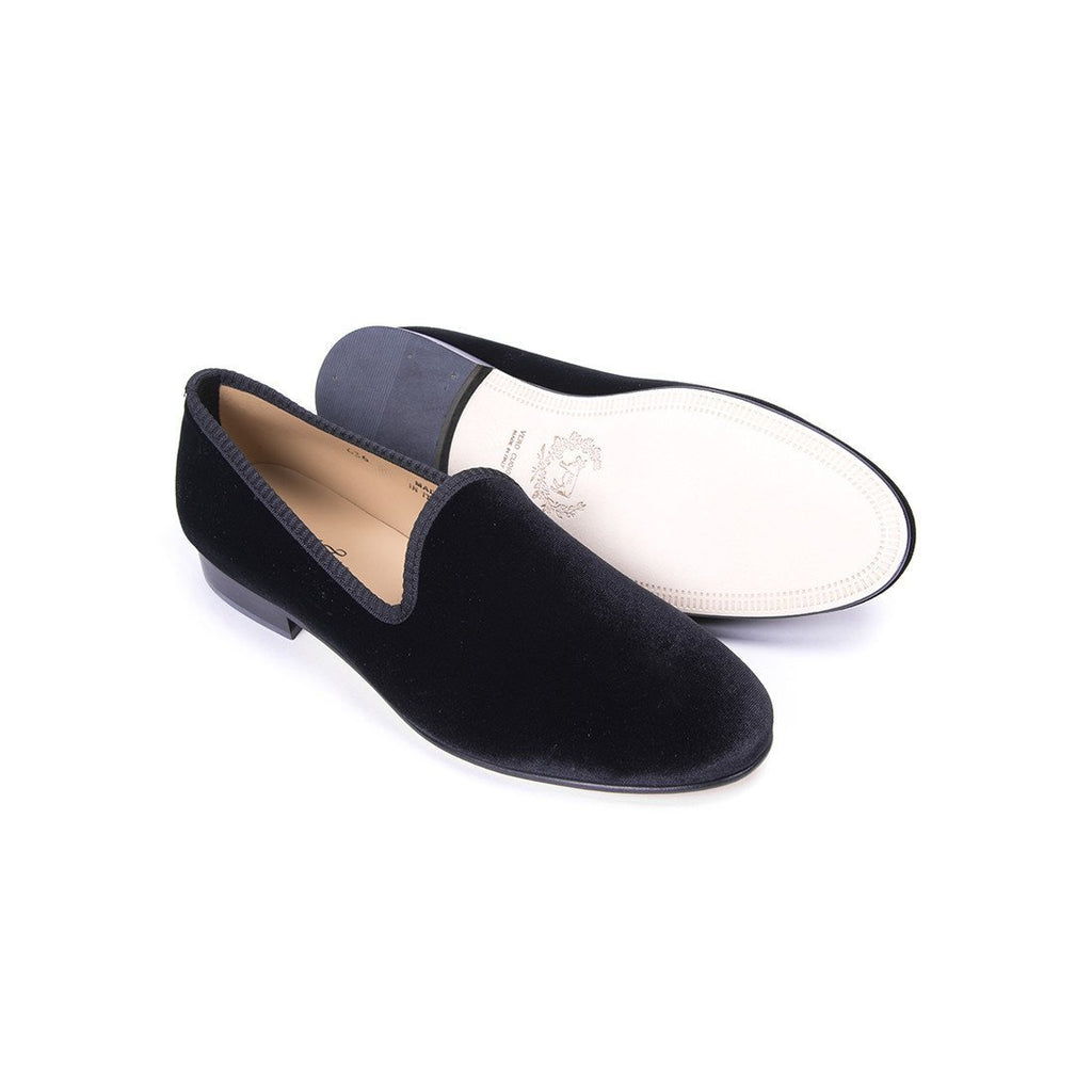 Women's Slippers - Women's Black Velvet Slipper