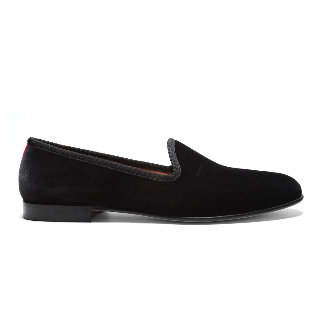 Women's Black Velvet Slipper