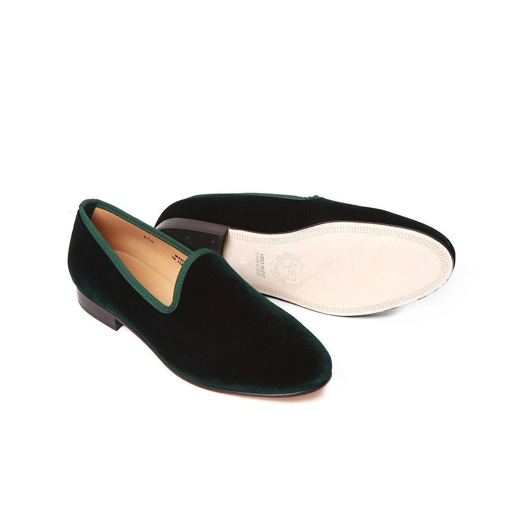 Women's Green Velvet Slipper