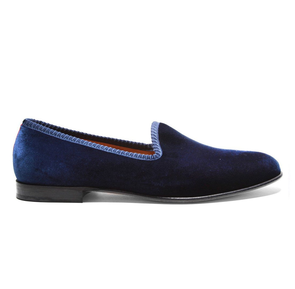Women's Slippers - Women's Navy Velvet Slipper