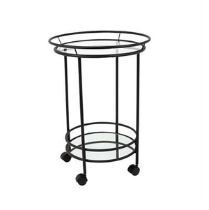 FAIRMONT BLACK FRAME ROUND CART