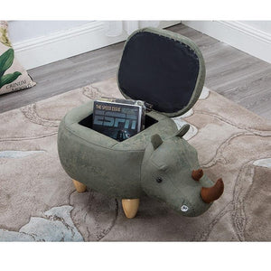 Rhinoceros Ottoman with Storage