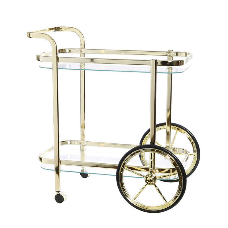 Jones Rectangle Bar Cart - Clear Glass