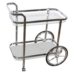 Smith Chrome Bar Cart