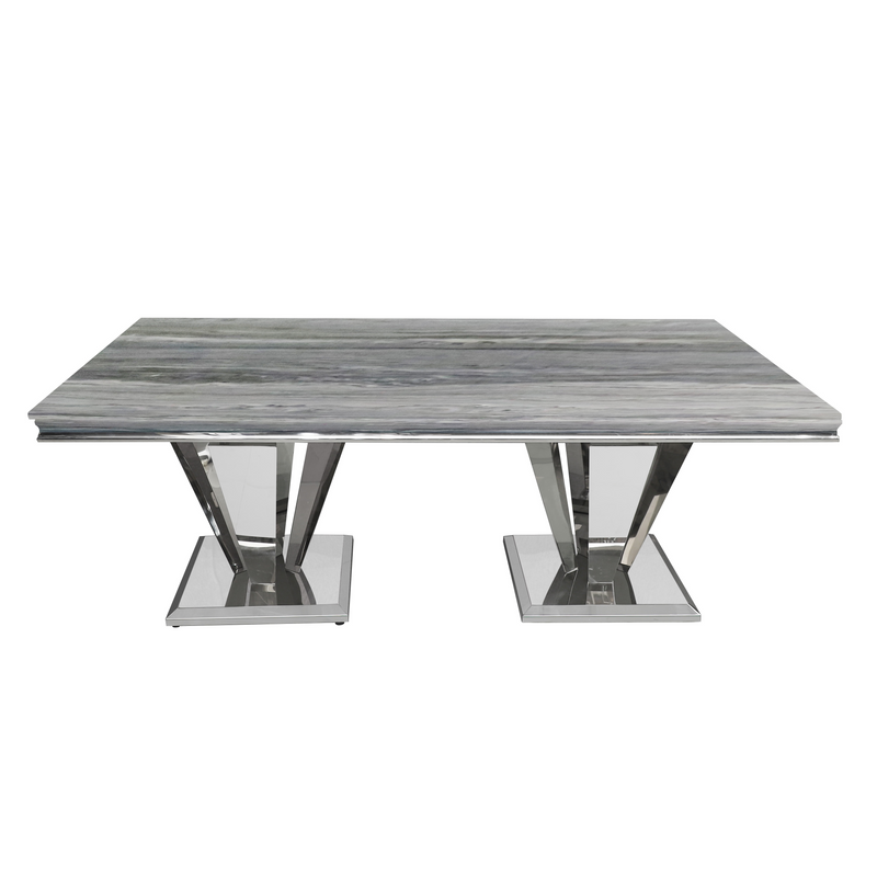 Maybelle Rectangle Marble Top Dining Table