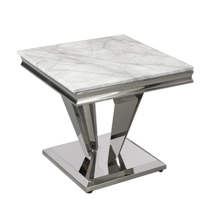 Maybelle Marble Top Lamp Table