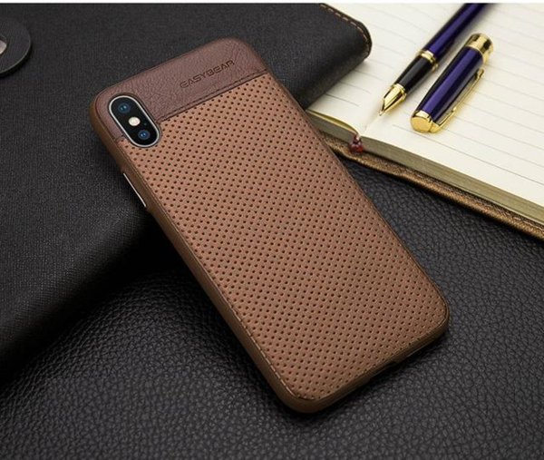 coque en cuir iphone x