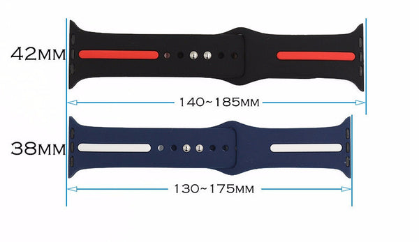 Bracelet de montre Apple en silicone avec fermeture « pin-and-tuck »