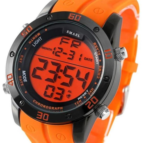 SMAEL 2019® - Montre étanche 50 m Orange