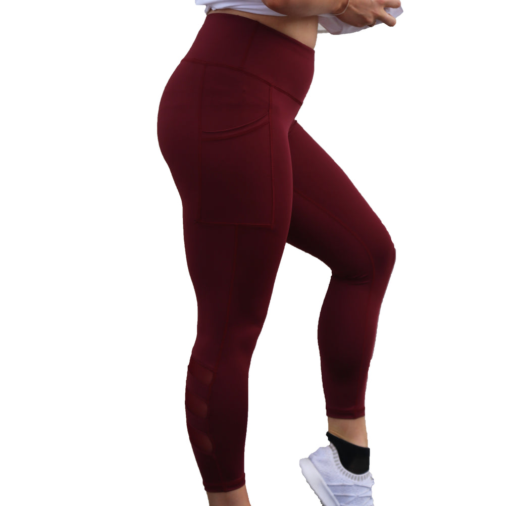 UNITY Leggings - Burgundy/Gold 7/8