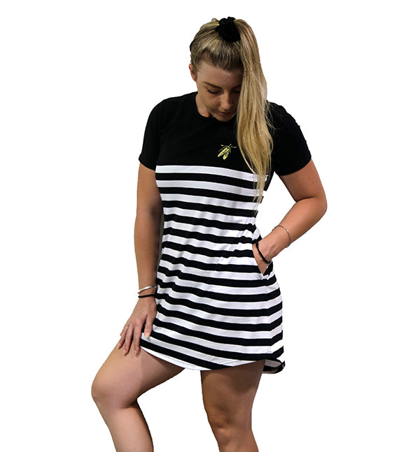 LT Striped T-Dresses