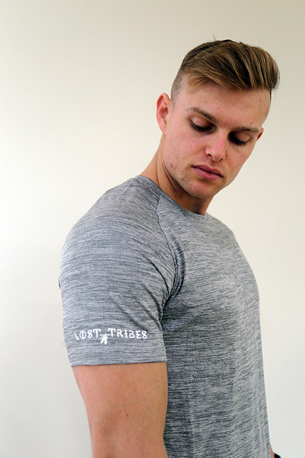 Trainer Tee - Grey Marle