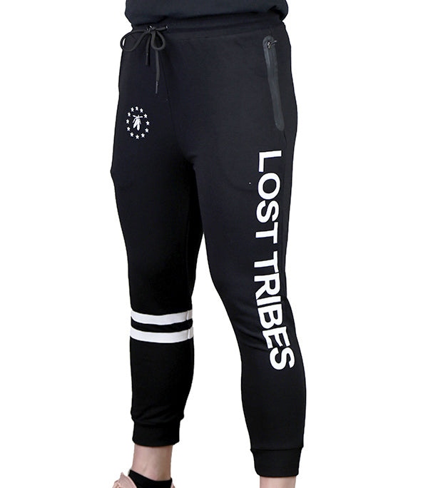 Fitted 3/4 Superstar Joggers - Black and White