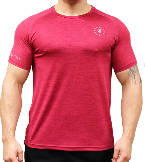 Trainer Tee - Wine Red Marle