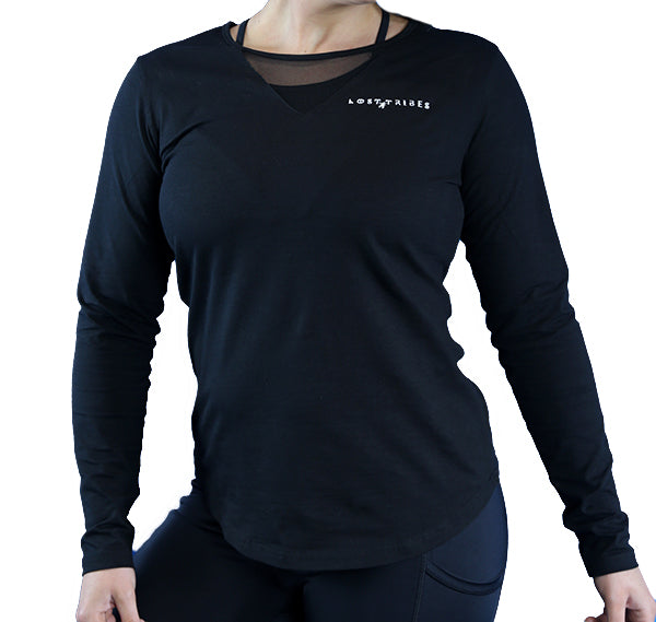 Unity Mesh Long Sleeve - Black