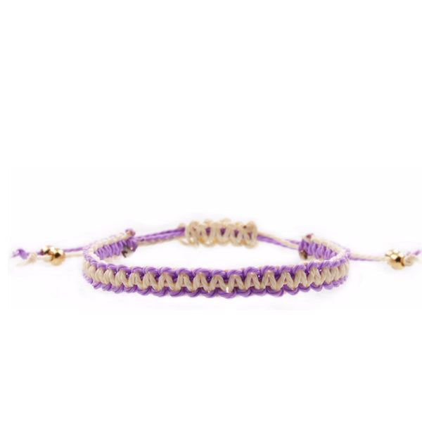 Braided Bracelet Purple