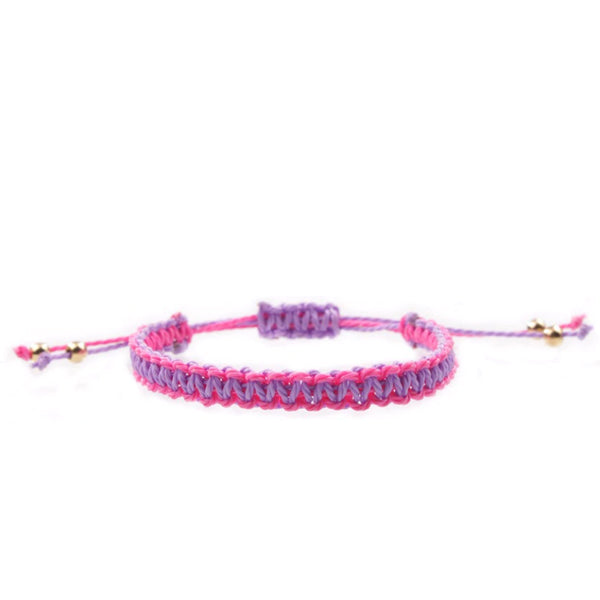Braided Bracelet Pink & Purple