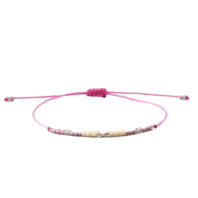 Pink Bead Friendship Bracelet