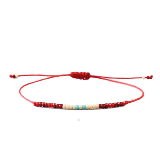 Red Bead Friendship Bracelet