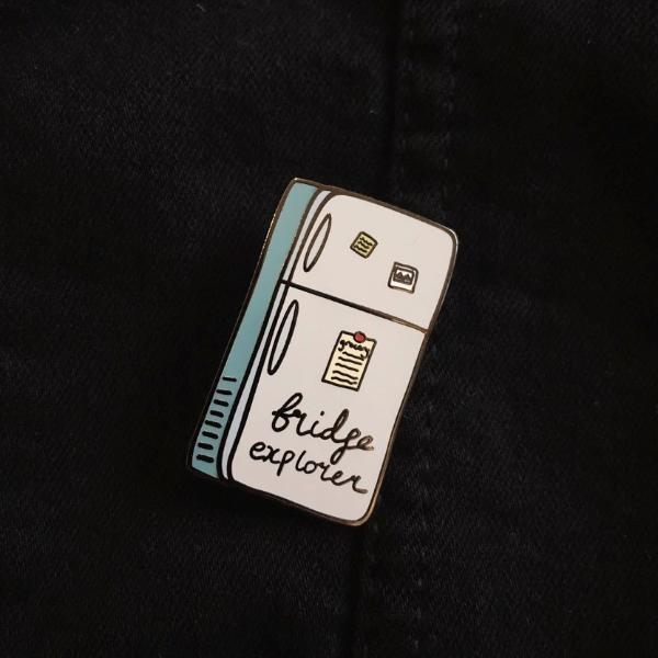 Fridge Explorer Hard Enamel Pin