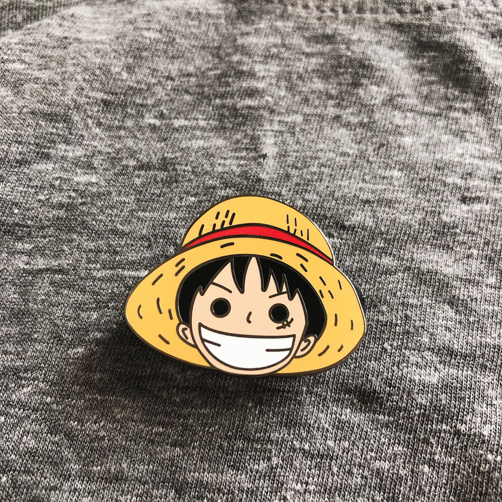 Going Merry and Monkey D. Luffy Enamel Pin Set