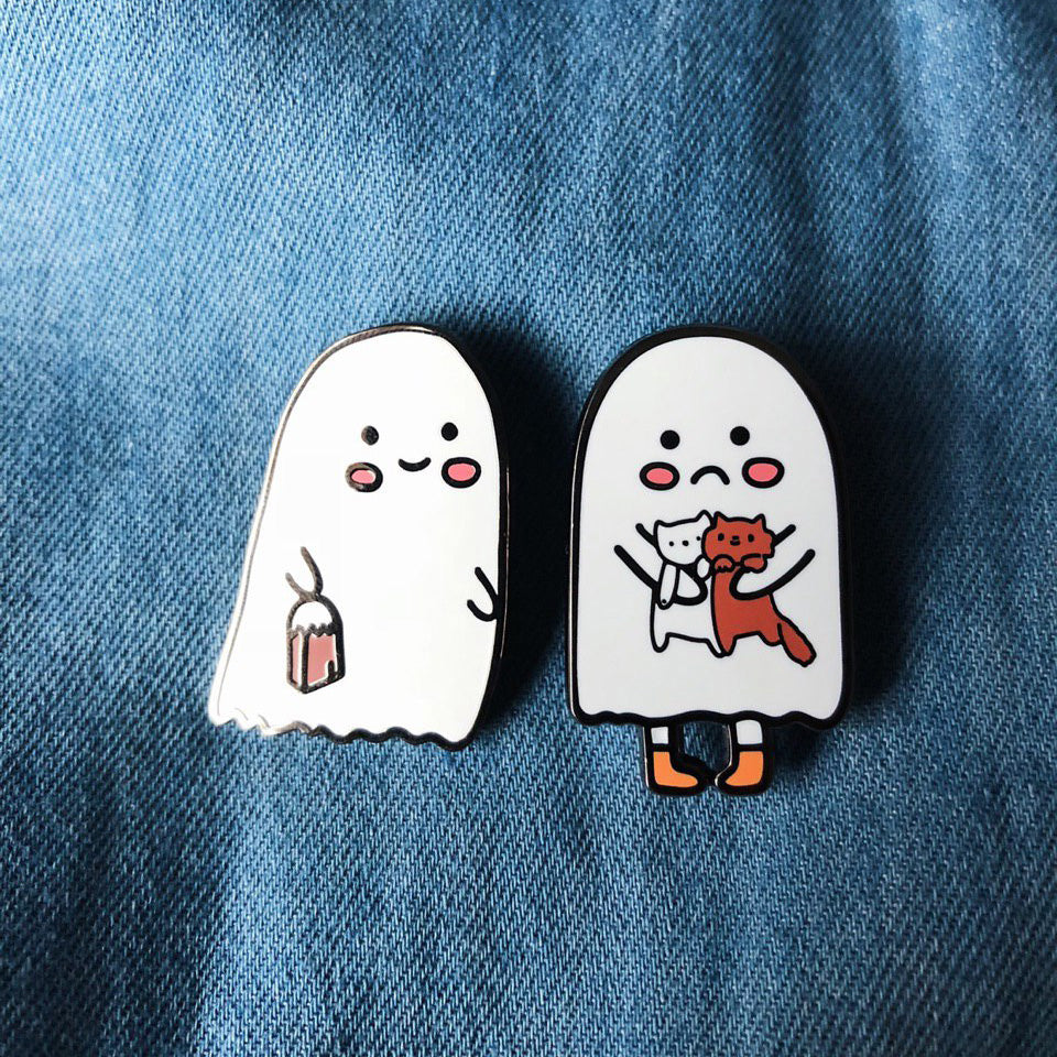 Cute Ghosts Hard Enamel Pin Set of 2