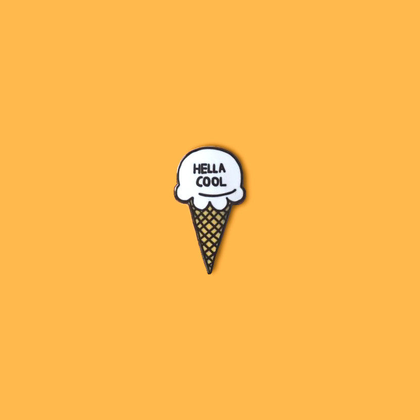 Hella Cool Ice Cream Hard Enamel Pin