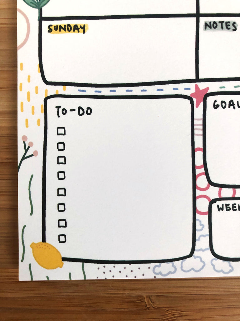 Weekly Planner Notepad A5
