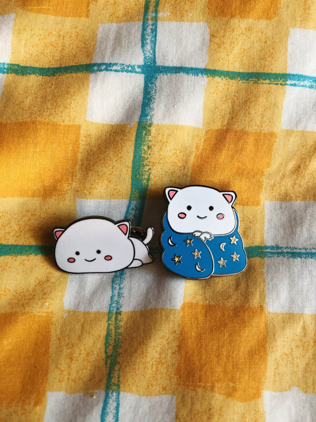 Mochi Cat Set of 2 Enamel Pin