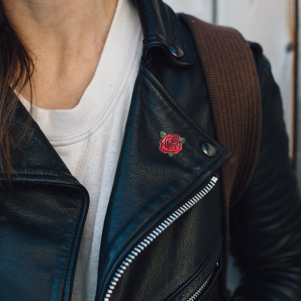 Red Rose Soft Enamel Pin