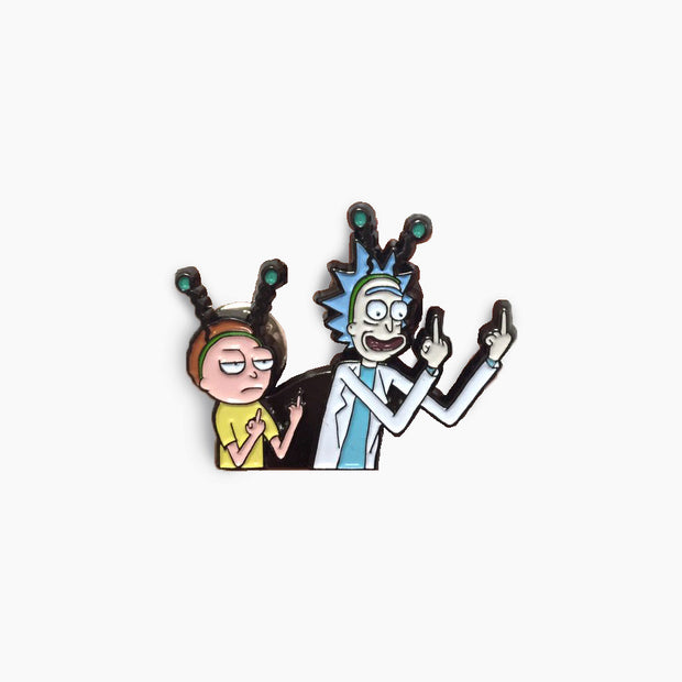 Rick and Morty Middle Finger Enamel Pin